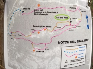 image map of trails on Notch Hill